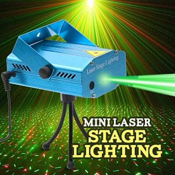 Mini Stage Light LED Laser Projector For DJ Disco Party  Christmas Decor Stage Lighting Effect | 24hours.pk