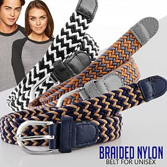 Fashionable Braided Nylon Belt For Unisex, Multicolor | 24hours.pk