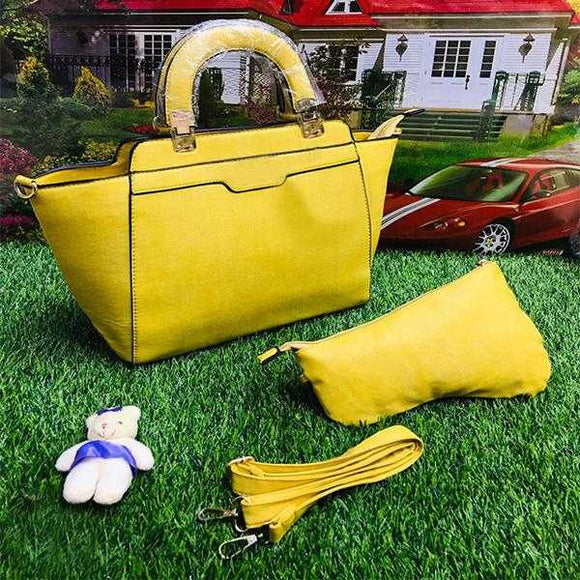 2 Piece Handbag Set For Ladies Women Yellow | 24HOURS.PK