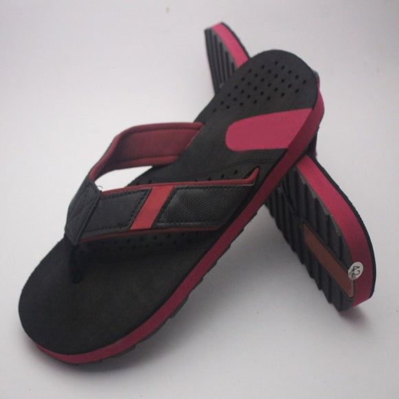 Simple Slipper For Mens Black & Pink | 24HOURS.PK