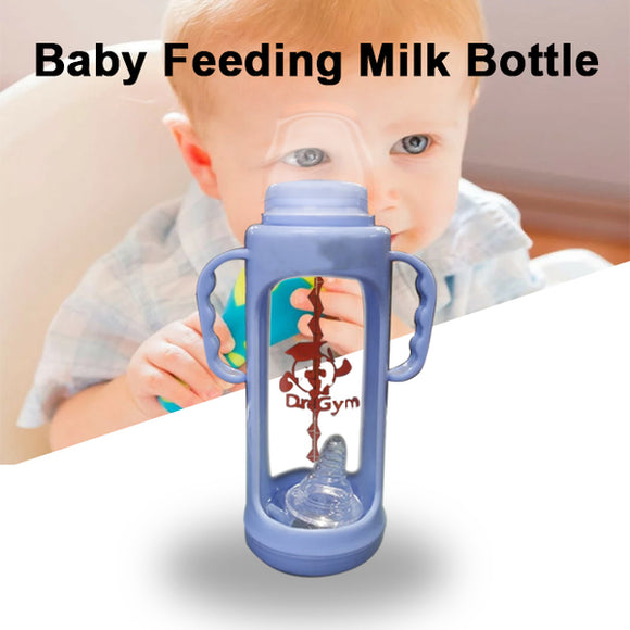 Pack of 2 Baby Feeding Bottle Transparent Milk Bottle Purple | 24HOURS.PK
