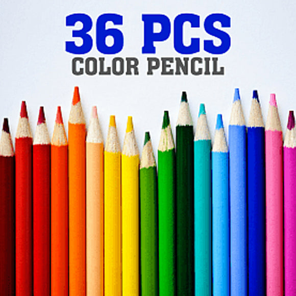 Triangular Non-toxic Color Pencil, 36 Pcs Set | 24HOURS.PK