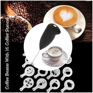 Coffee Beater With 16 Coffee Stencil | 24HOURS.PK