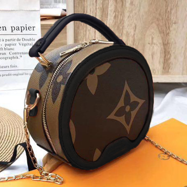 Multi Purpose Rounded Circle Bag For Women black | 24HOURS.PK