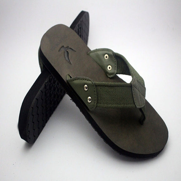 2 Strap Slipper For Mens Dark Green and Black | 24HOURS.PK