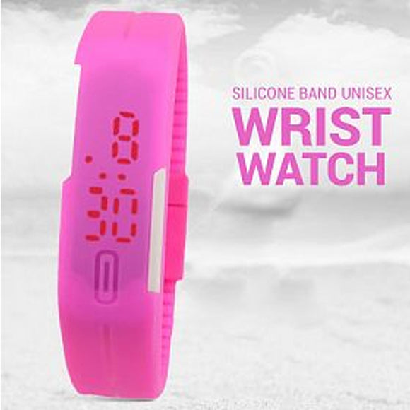 Pack Of 2, Wrist Silicone Band Unisex Red Light Sports Watch | 24HOURS.PK