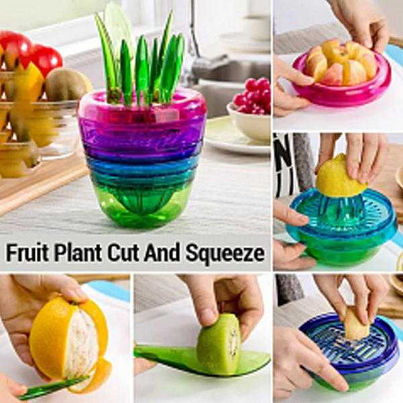 10 Pcs Fruits Plant - Multi Kitchen Tool Set With Interior Cut Squeeze & More Tool (1126) | 24HOURS.PK
