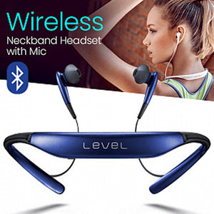 Level U Wireless Bluetooth Neck Headphones Stereo Neckband Headset with Mic | 24HOURS.PK