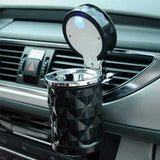 Pack of 2 Car Dashboard Tissue Holder & Car LED Light Ashtray Black | 24HOURS.PK