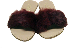 Rabbit Hairs Flat Slipper for Women D13 | 24hours.pk