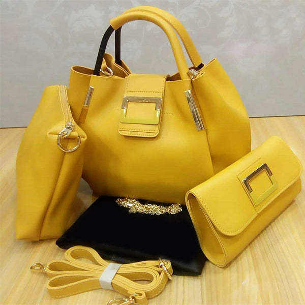 Stylish Hand Bags For Ladies Yellow | 24HOURS.PK
