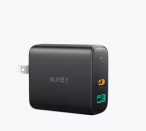 Aukey PA-D1 - Dual-Port PD Wall Charger with Dynamic Detect - 30W