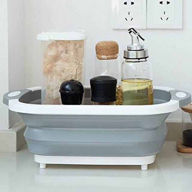 Three in One cutter Board Wash Basin Dish Tub Space Save and Serving Bowl | 24HOURS.PK