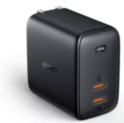 Aukey Omnia Duo 65W Dual-Port PD Charger with Dynamic Detect (PA-B4)