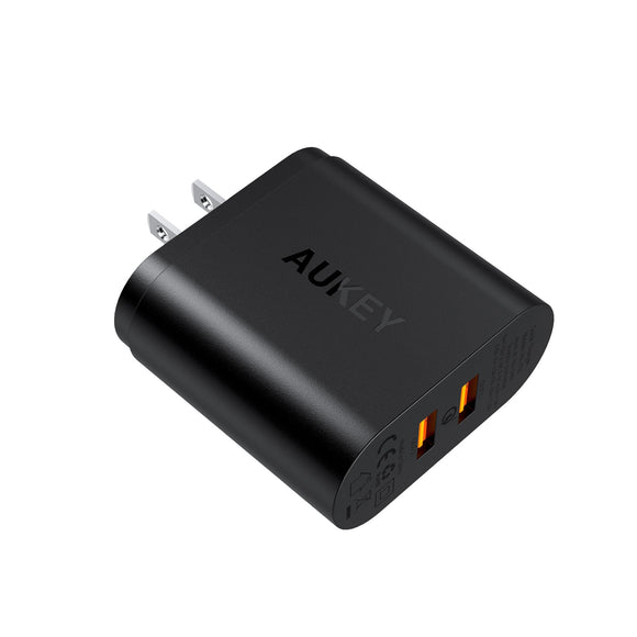 Aukey PA-T16 - Dual-Port USB Wall Charger - 3.0