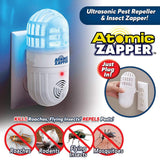 Ultra sonic Atomic Electronic Pest Control Indoor Plug in Ultrasonic Pest Repellent for Mice Cockroach Spider Ant Mosquito Bug Insect 2 in 1 Bug Zapper