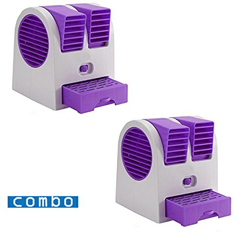 Pack of 2 Desk Table USB Fan,Portable Air Conditioning Mini Fan Air Cooler Home Office | 24hours.pk