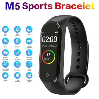 M5 Smart Bluetooth Sports Bracelet Fitness Band With Heart Rate Monitor Waterproof Pedometer For Android