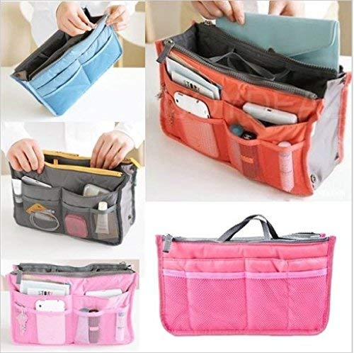 My Easy Nylon HandBag Insert Cosmetic Gadget Purse Organization | 24hours.pk
