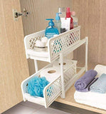 Portable 2 Dier Basket Drawers Organizes Kitchen & Bathroom Cabinet | 24hours.pk
