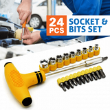 Pack of 2 - JACKLY ELECTRONIC Screwdriver Tool Kit & T-type Spanner Hand Tool | 24hours.pk