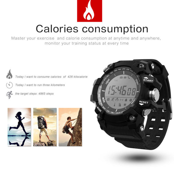 D-Watch 1.1 Inch LCD Waterproof Sport Health Bluetooth Smart Watch Alarm Camera Pedometer Sleep Monitor Incoming Call Email Notification | 24hours.pk