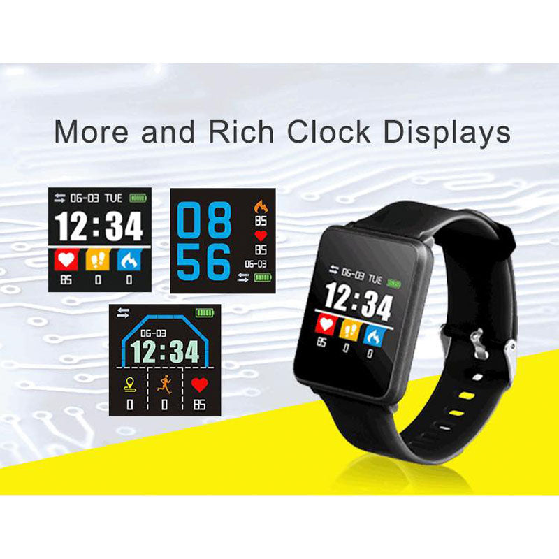 A-8 Sport Digital Bracelet Blood Pressure/Heart Rate Monitor Fitness Tracker Bracelet Android IOS Smart Watch | 24hours.pk