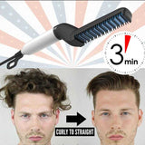 Hair & Beard Straightener Modelling Comb Ceramic-Iron | 24hours.pk