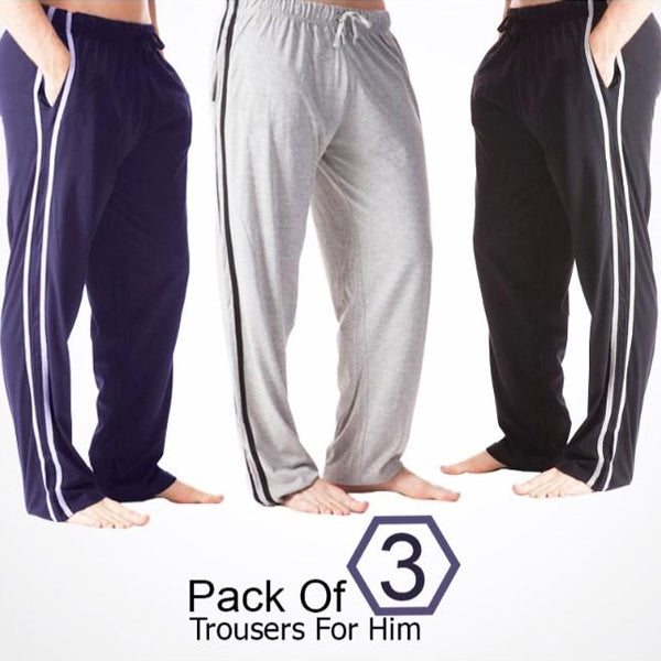 Pack of 3 Trousers For Him (Random Color) 0105 | 24HOURS.PK