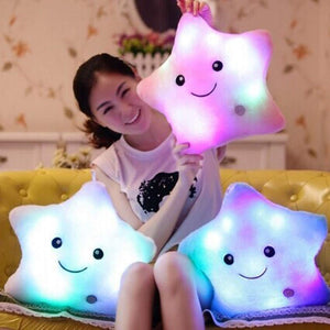 Unique Luminous Crazy Awesome LED Star Design Pillow Random Color | 24hours.pk