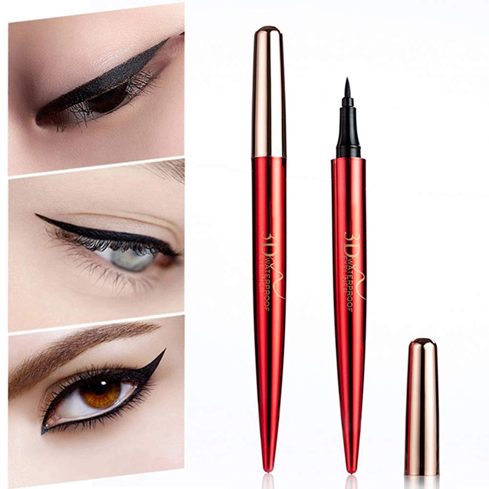 Cute love Portable 3D Eyeliner Pen Long lasting Waterproof Non Vertigo Dyed Eyeliner Eye Makeup