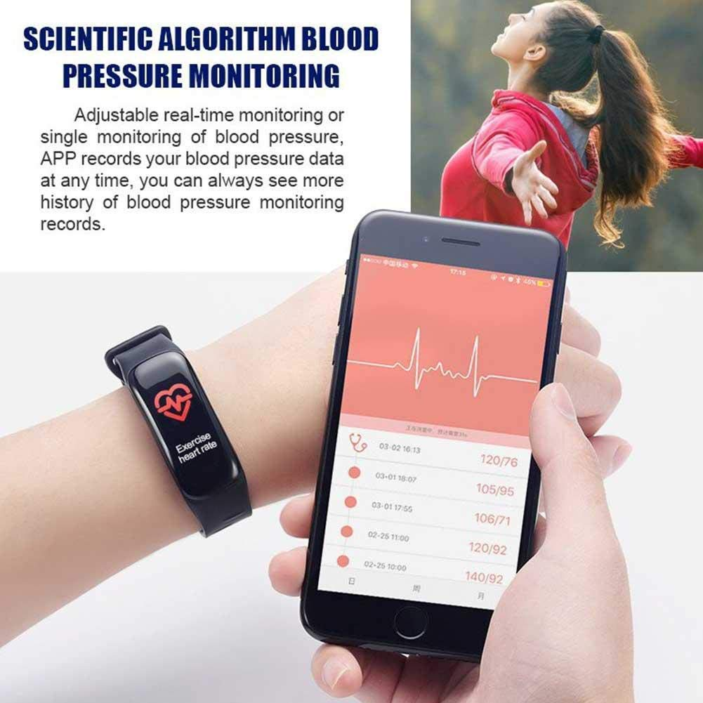 C1PLUS Smart Bracelet Smartwatch Android IOS Bluetooth Sports Waterproof Heart Rate Monitor Blood Pressure Measurement Touch Screen Stopwatch Pedometer Call Reminder Activity Tracker (1132) | 24HOURS.PK