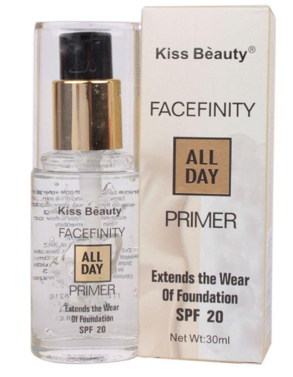 Kiss Beauty Facefinity All Day Primer and Foundation SPF 20 for Women Off-White