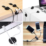 Multipurpose Cable Clip Set for Desks Power Cables USB Chargers Audio Cables