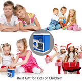 Mini Atm Money Saving Safety Box For Kids Atm Money Bank | 24hours.pk