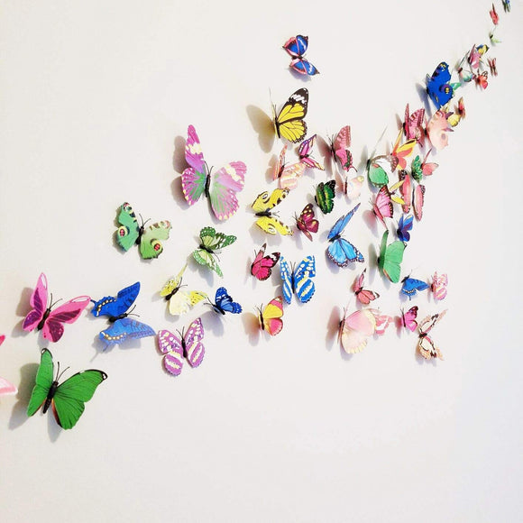 Pack of 2 Butterfly Wall Decor Stickers Random Design & Color Style | 24hours.pk