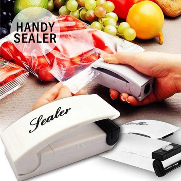 Pack of 3 Portable Handheld Household Electronic Mini Heat Sealing Machine Plastic Food Bag Sealer 746543 | 24hours.pk