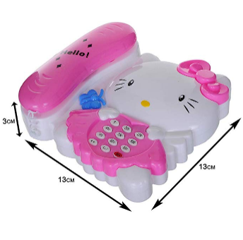 Hello Kitty Learning Phone/Telephone Learning & Development Toys For Kids | 24hours.pk