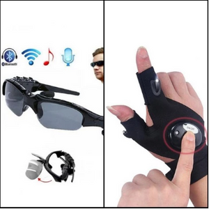 Bundle Deal - Wireless & Bluetooth Sunglasses + Light Glove lite (Pack Of 2) | 24hours.pk