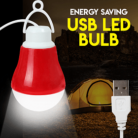 Energy Saving 5V LED 5W USB/V8 Emergency Light For Car & Home, Multi-Colour | 24HOURS.PK