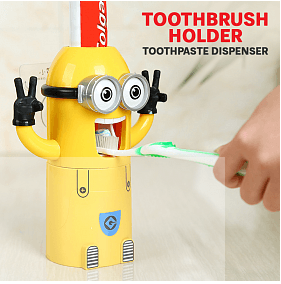 Minion Toothpaste & Tooth Brush Holder (034) | 24HOURS.PK