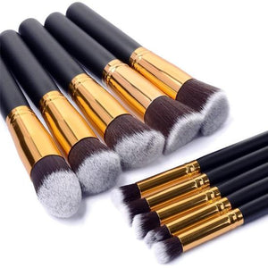 Anastasia Beverly Hills 10 Brushes Set Black