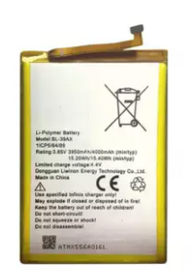 BL39AX Battery For Infinix Hot 4 X557-X556 High Capacity 4000mAh-Silver