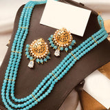 Latest Dark & Light Multicolors Pearls Necklace For Womens Set | 24HOURS.PK