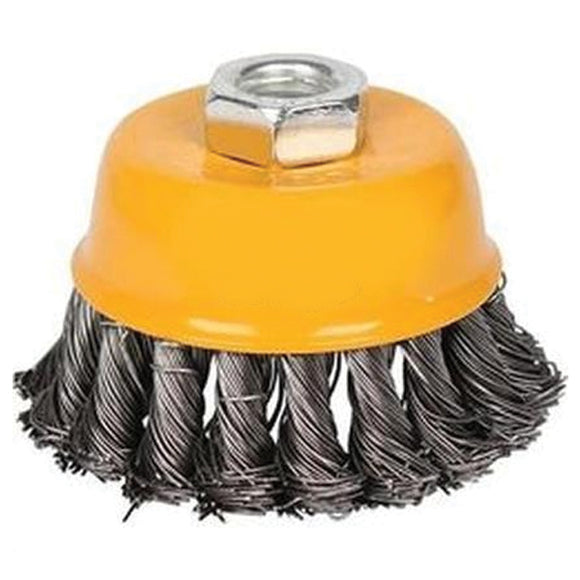 Cup twist wire brush with nut WB20751 | 24hours.pk