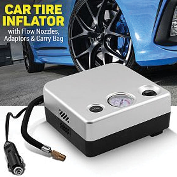 Car Portable Air Compressor Tire Inflator 12v 80PSI | 24HOURS.PK
