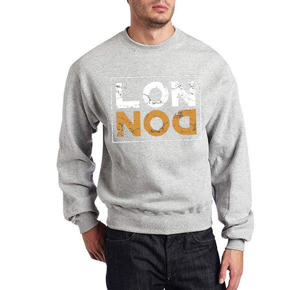 London grey new Printed Fleece Winter Sweatshirt | 24hours.pk
