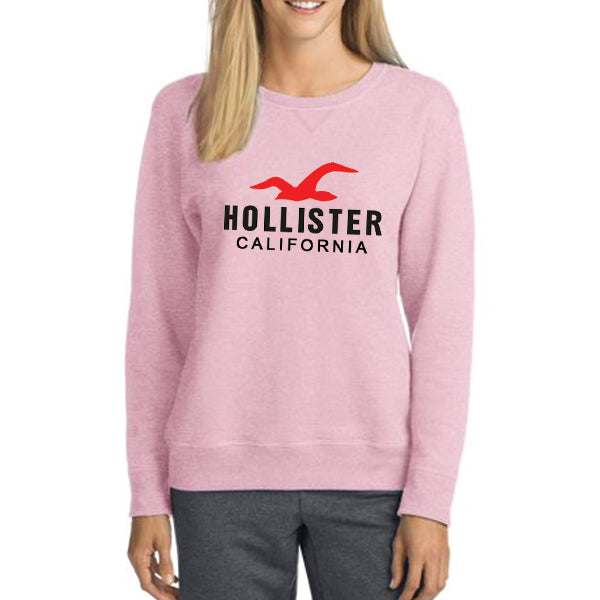 Holister California Winter Sweatshirt For Unisex Pink | 24hours.pk