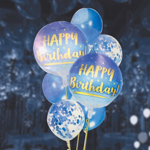 Pack of 7 foil balloon sets blue | 24hours.pk