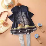 Lollypop Dream Tree Cotton Kurti For Girls | 24HOURS.PK